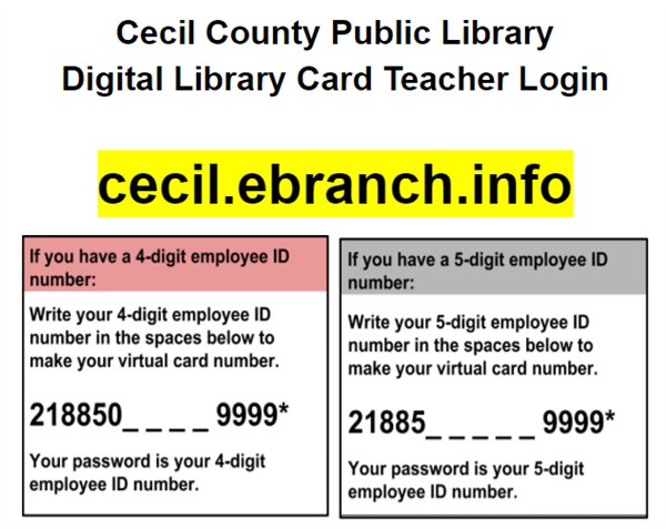 Teacher Virtual Library Card