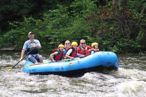 Zimmer family white water rafting
