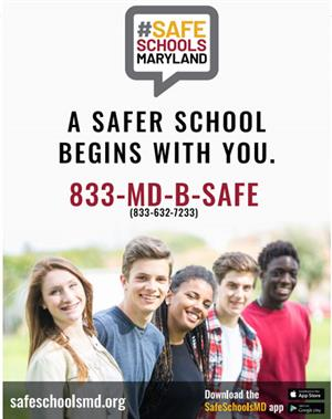 Maryland Safe Schools Tip Line