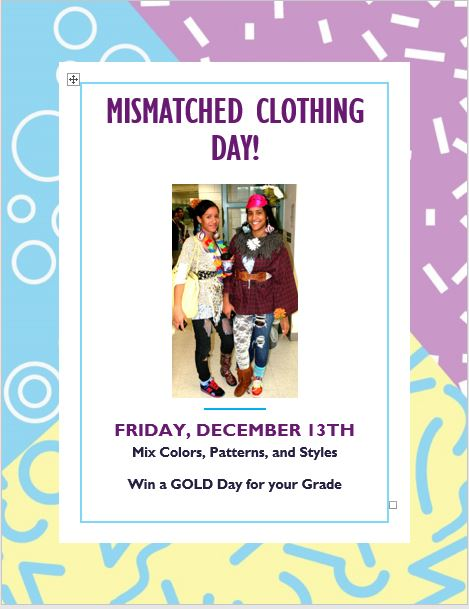 Mismatched Clothing Day