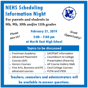 NEHS Scheduling Night