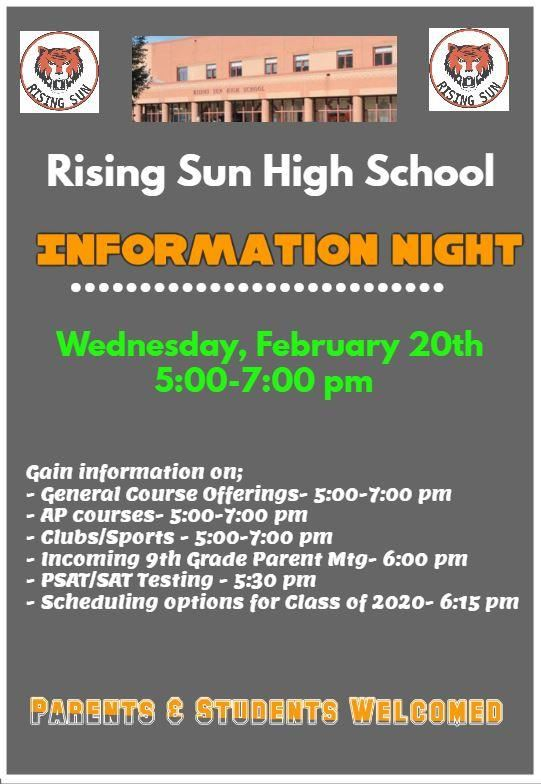 RSHS Info Night Flyer