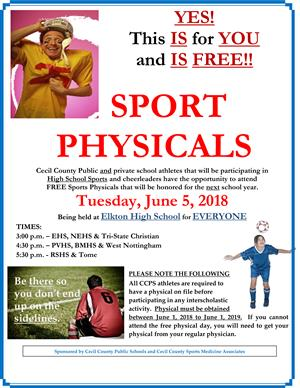 Sports Physicals Flyer