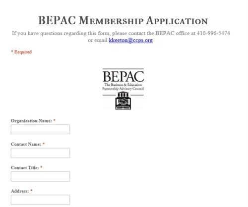 BEPAC Application