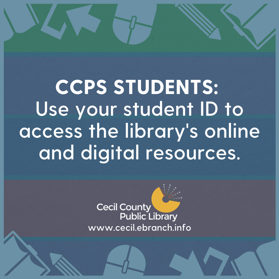 Another valuable resource for students! Thanks to our friends at Cecil County Public Library for this reminder!