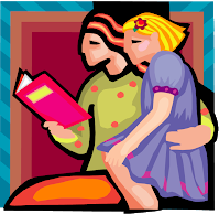 Parent and Child Reading Together Image